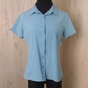 North face woman's outdoor xl button short sleeve
